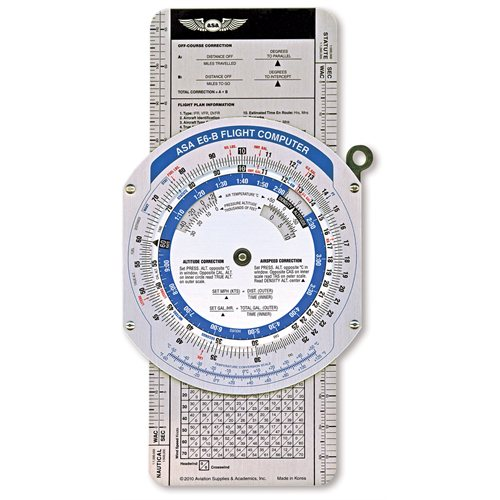 E6B Calculatrice de vol métal - en couleur