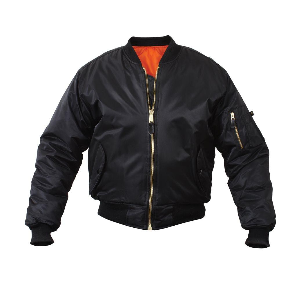 Flight Jacket Black -  XL