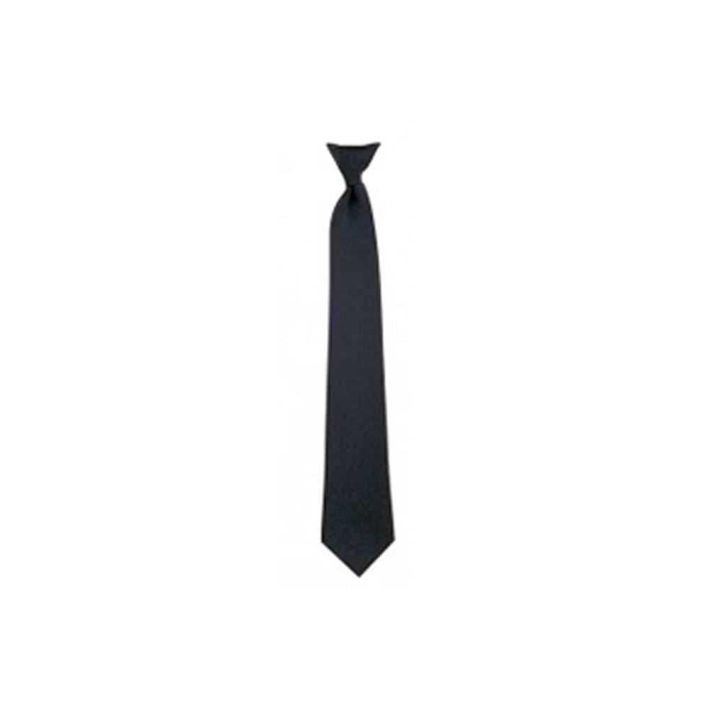 """Cravate noir à clip - 18"""""""