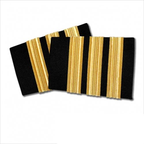Navy Epaulet - 3 Bar Gold