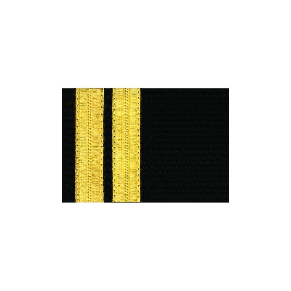 Navy Epaulet - 2 Bar Gold