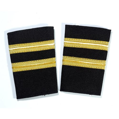 Black Epaulet - 2 Bar Gold