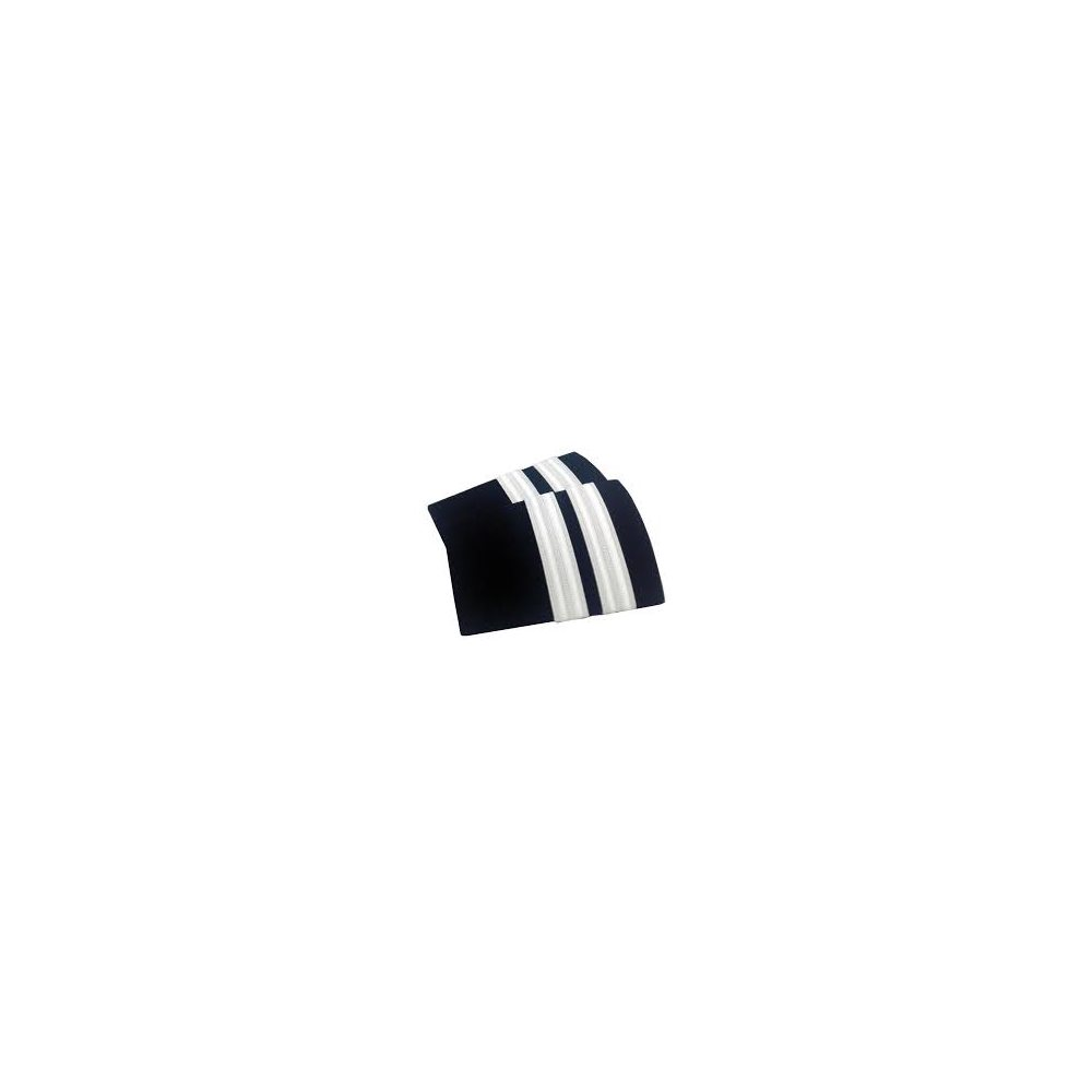 Navy Epaulet - 2 Bar Silver
