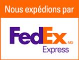 Nous expédions par FedEx Express